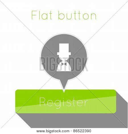Vector simple flat modern button template.
