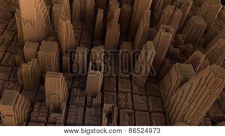 metallic city background