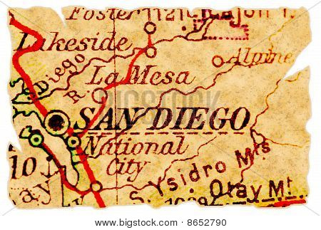 San Diego Old Map