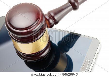 Smartphone Under Judge Gavel - 1 To 1 Ratio