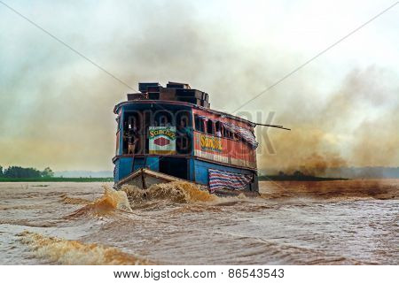 Dirty Amazon River Boat