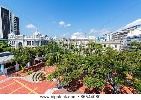 Plaza In Downtown Guayaquil