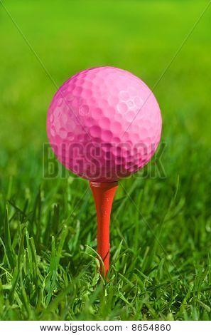 Golf Ball On A Green Grass