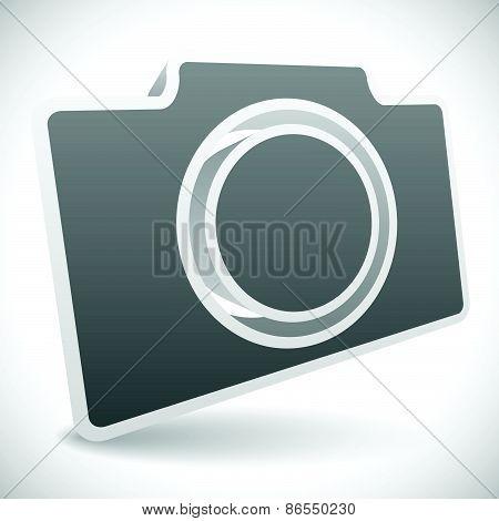 Gray 3D Photo Camera Icon
