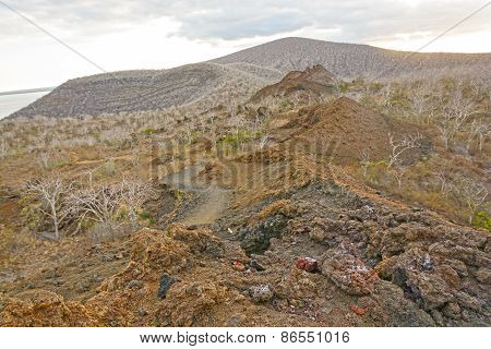 Spatter Cones On A Remote Volcanic Island