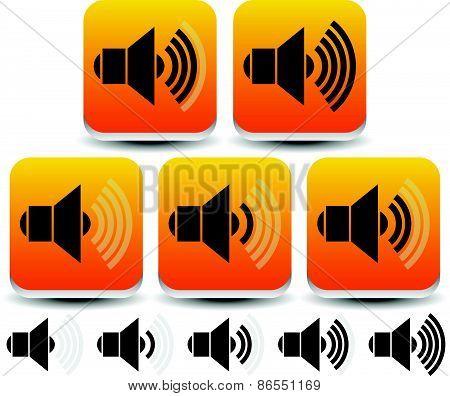 Volume / Sound Level Symbols - Icons
