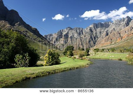 River And Mountain Scenary