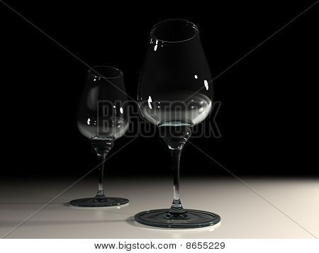Two Vine Glasses