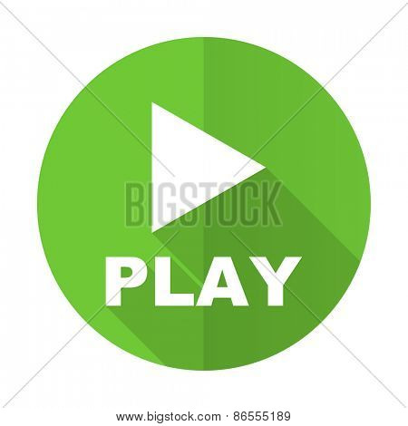 play green flat icon