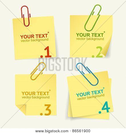 Vector yellow paper option banner