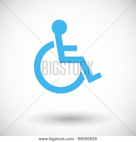 Disabled. Single flat icon on white background. Vector illustration. poster