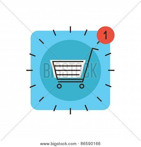 App Store Market Flat Line Icon Concept