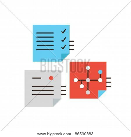 Planning Workflow Flat Line Icon Concept
