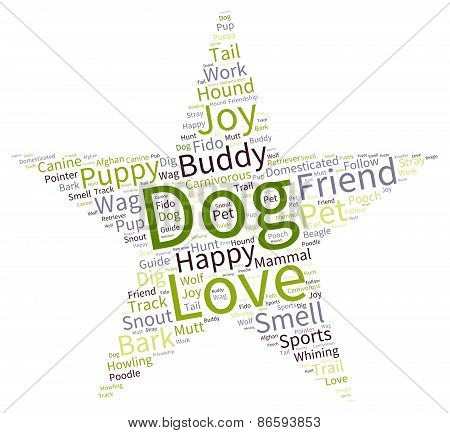 Star Shaped Dog Word Cloud