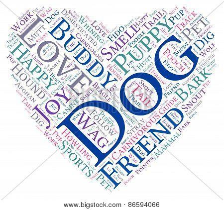 Heart Shaped Dog Word Cloud
