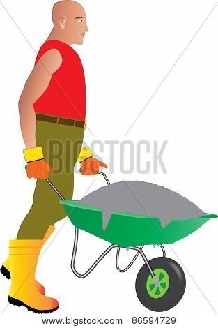 Wheelbarrow Man