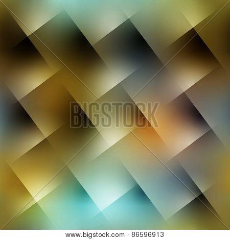 Diagonal plaid strikes on blurred background.
