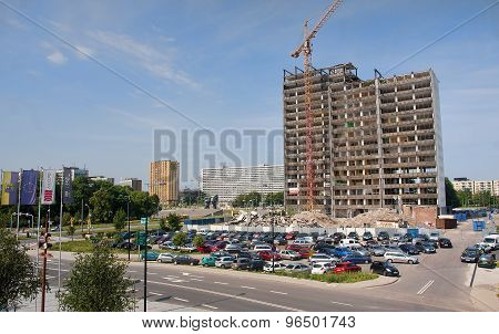 Katowice, Poland- July 19, 2015: Old Building In The City Center