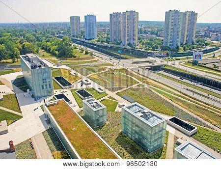 Katowice, Poland - July 19, 2015 The New Building Silesian Museu