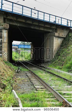 Landscape with railroad tracks