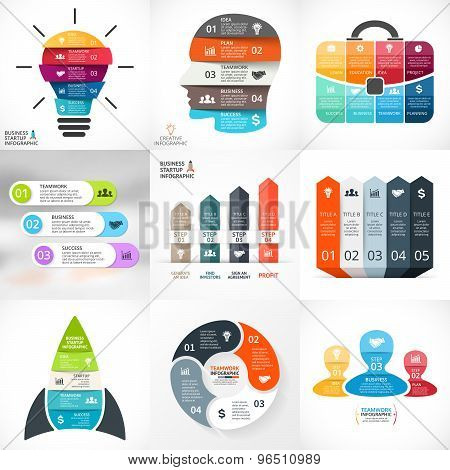 Vector creative arrows infographics. Template for cycle diagram, graph, presentation, chart. Busines