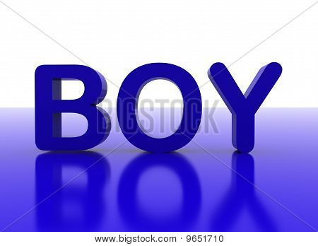 3D Letters Spelling Boy In Blue