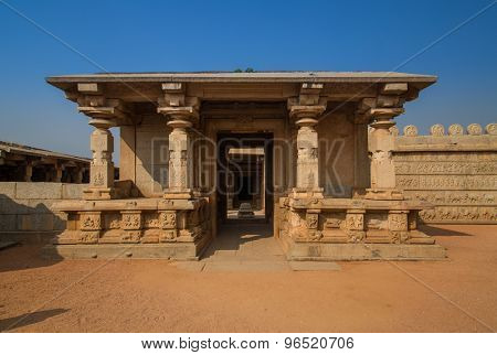 Ruins of Hampi, a UNESCO World Heritage Site, India. poster