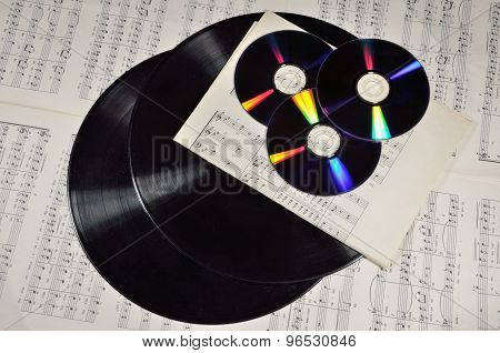 Dvd And Dusty Long Play Record