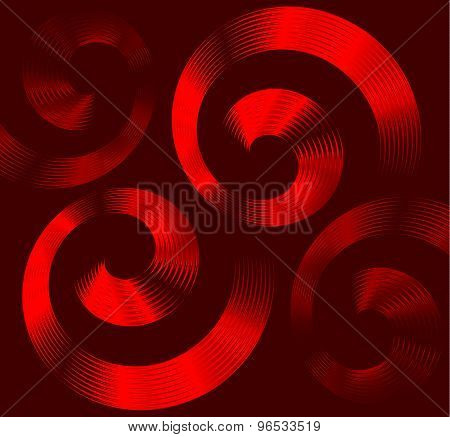 Red spiral elements with space for text