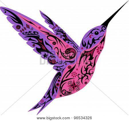 Humming-bird, pink