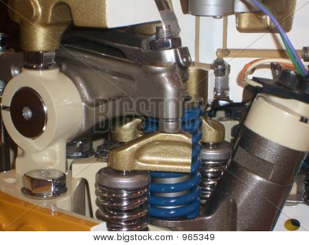 Caterpillar motor Cutaway
