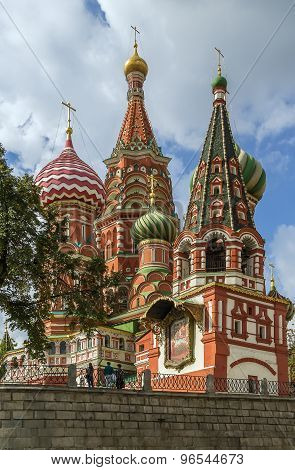 The Cathedral of Vasily the Blessed commonly known as Saint Basil Cathedral is a church in Red Square in Moscow Russia. poster