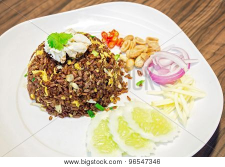 Roast Curry fried rice with crab