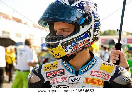 Rome, Italy - September 30 2007. Superbike Championship, Vallelunga Circuit. Max Neukirchner On The