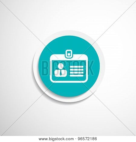 Badge ID icon icon vector business id badge personal name avatar