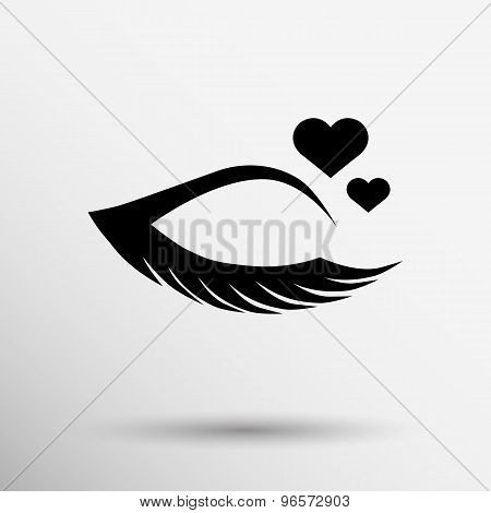 Vector illustration grunge beautiful female eye creamy