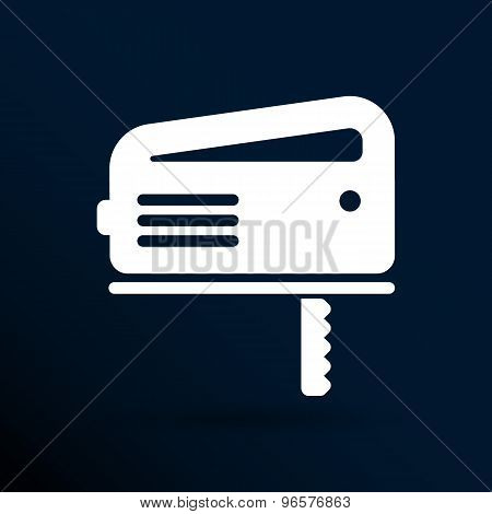 The fretsaw icon. Fretsaw symbol. Flat Vector illustration