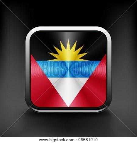 original and simple Republic of The Antigue and Barbuda flag
