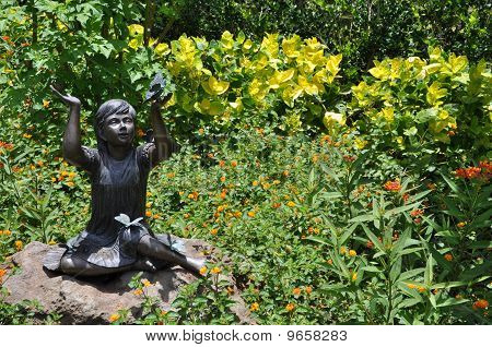 Butterfly girl Statue