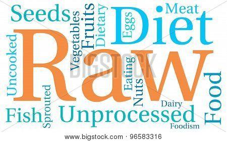 Raw Food Word Cloud