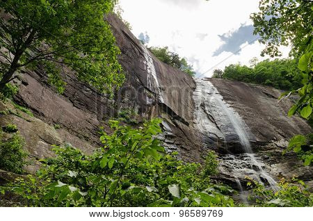 Hickory Nut Falls in Chimney Rock State Park, North Carolina, United States