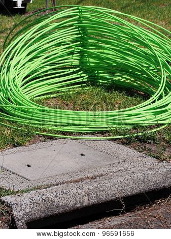 Green NBN fiber optic cable at Springvale road