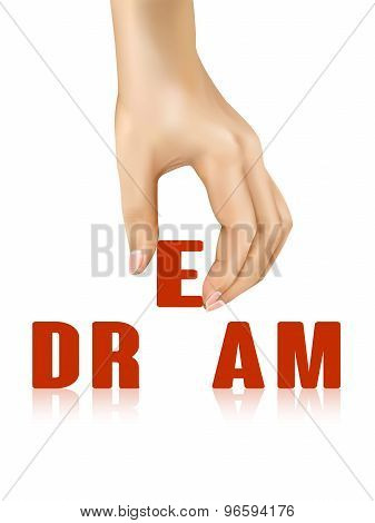 Dream Word Taken Away By Hand