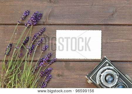 Rural Travel Concept With Lavender Flowers