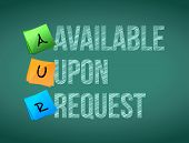 available upon request post memo chalkboard sign illustration design poster