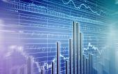 3d rendered illustration of a stock market poster
