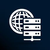 Planet Server icon symbol design workstation world. poster