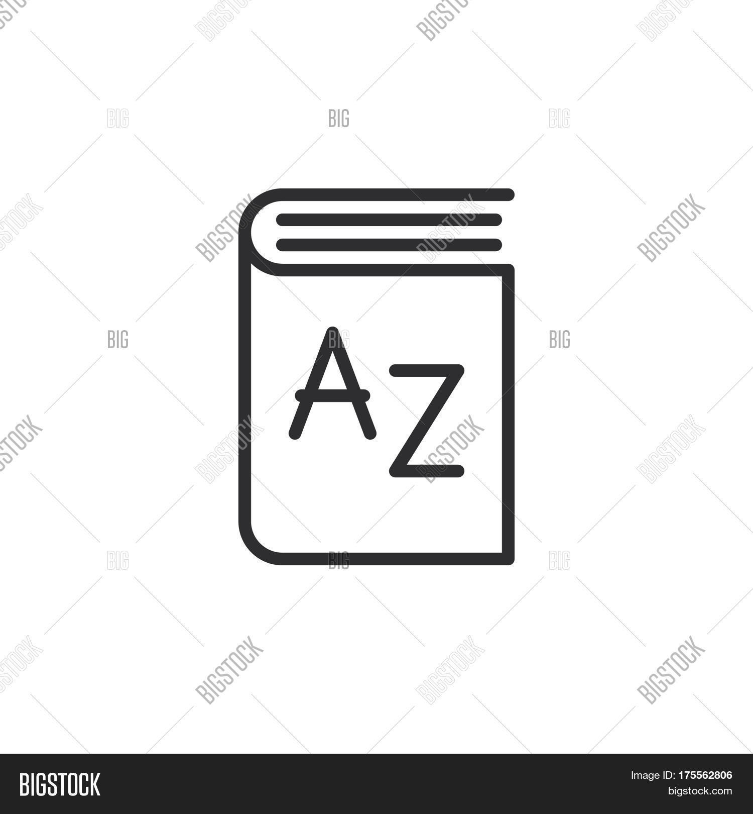 Dictionary Line Icon Vector Photo Free Trial Bigstock