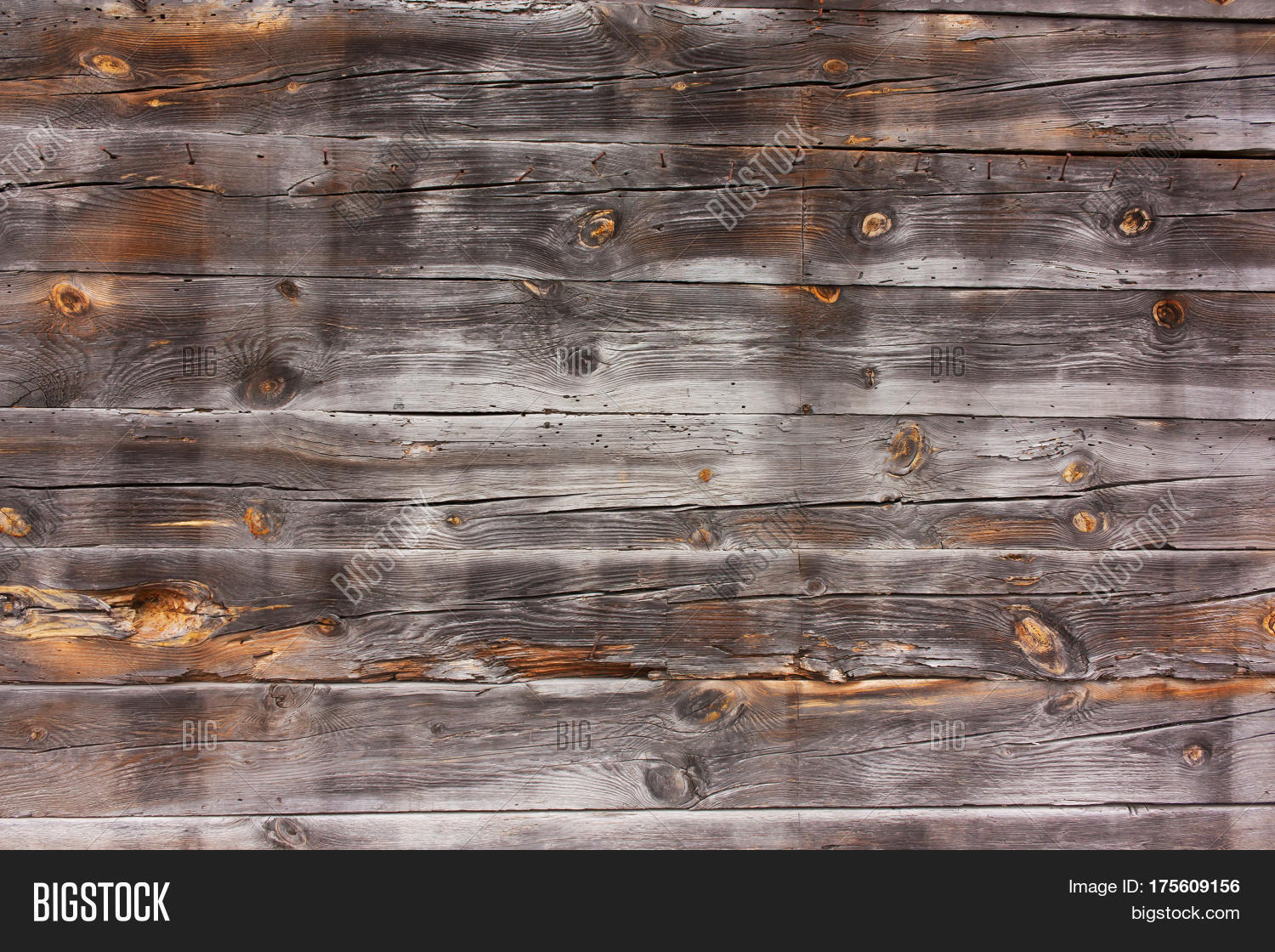 Wooden Horizontal Old Worn Burnt Image Photo Bigstock