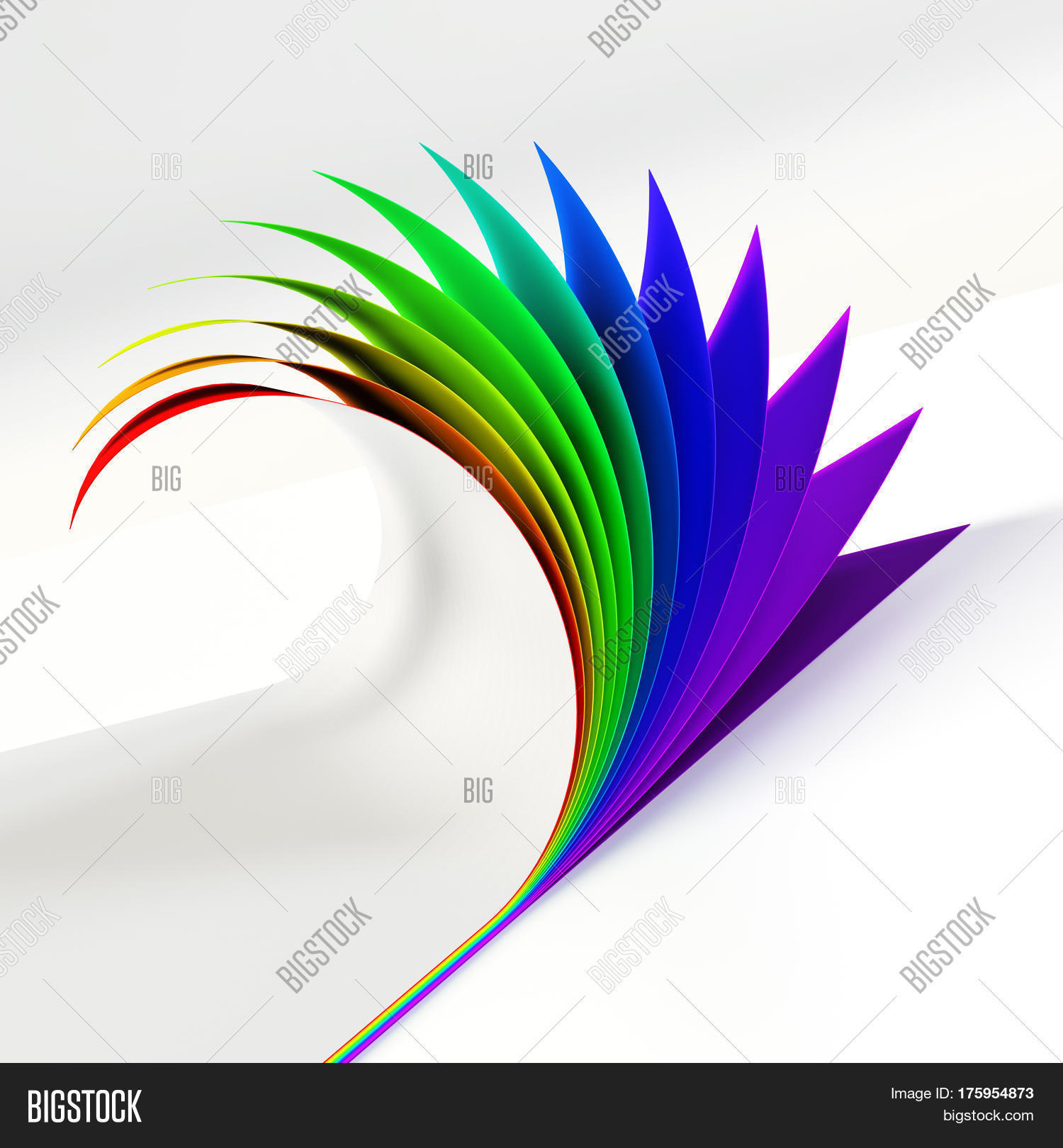 blank document rainbow image photo free trial bigstock